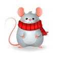 cute rat - chinese zodiac sign year rat vector image