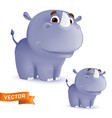 cute standing and smiling cartoon barhino vector image