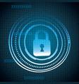 cyber security digital vector image vector image