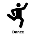 dance icon simple style vector image