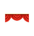 detailed red silk or velvet pelmets for theater vector image vector image