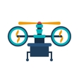 drone with train of landing and three airscrew vector image