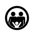 family icon in flat style parents symbol on white vector image vector image