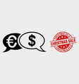 financial chat messages icon and distress vector image vector image