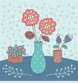 flower vase editable vector image vector image