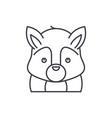 funny squirrel line icon concept funny squirrel vector image
