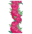 garland with peonies vector image