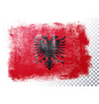 grunge and distressed flag albania vector image vector image