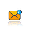 incoming message icon with notification vector image vector image