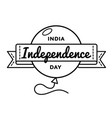 india independence day greeting emblem vector image