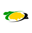 jamaica flower logo design template vector image