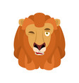 lion winks emoji avatar face wild animal happy vector image vector image