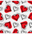 love print abstract seamless pattern with hatched vector image vector image