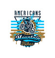 on the theme of mountain bike vector image vector image