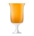 orange smoothies icon realistic style vector image