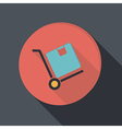 paper flat icon Truck with box Logistic icon vector image vector image
