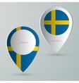 paper of map marker for maps sweden vector image vector image