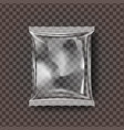 plastic snack packaging transparent pillow vector image vector image