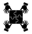 Puzzle pieces - strategy icon vector image