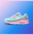 realistic woman sport running shoe for training vector image