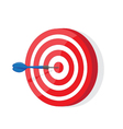 Red and White darts target vector image