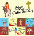 religion holiday palm sunday before easter vector image vector image