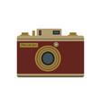 retro camera decorated with inscription photo vector image vector image