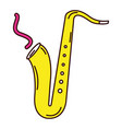 Saxophone musical instrument icon vector image