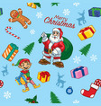 seamless pattern of christmas design vector image vector image