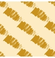 Seamless pattern with gold brush strokes vector image vector image