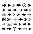 set flat arrows vector image vector image