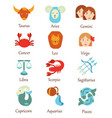 set of zodiac signs a collection of vector image