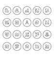 set round line icons of architecture vector image vector image