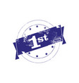 sign number one first place watermark stamp vector image