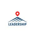 simple mountain logo like leadership vector image