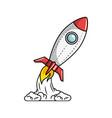 space rocket icon vector image