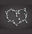 stylized white heart on dark background vector image