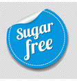 sugar free sticker isolated transparent background vector image vector image