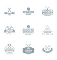 surgical procedure logo set simple style vector image vector image
