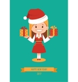 Template of holiday postcard New Year 2017 card vector image vector image