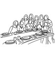 ten female people taking photo together vector image