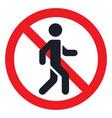 traffic sign prohibiting traffic pedestrians vector image