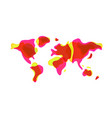 trendy liquid shaped world map in vector image vector image