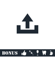 Upload icon flat vector image vector image