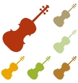 Violine sign vector image