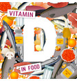 vitamin d background vector image