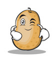 wink potato character cartoon style vector image vector image