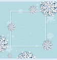 winter poster with frame vector image vector image
