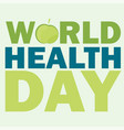 world health day card with vector image