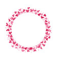 wreath made from doodle hearts vector image vector image